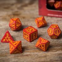 Age of Ashes - Red w/Orange Poly Set (7)