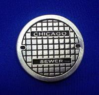 "1"" Round Base - Chicago Sewer Lid"