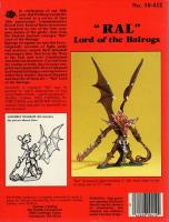 """Advanced Dungeons & Dragons - """"Ral"""" Lord of the Balrogs"""