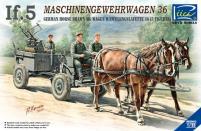 German If.5 Horse Drawn Machine Gun Wagon w/Zwillingslafette 36