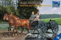 German Horse Drawn Large Field Kitched Hf.11 w/Figures
