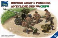 British Army 6 Pounder Anti-Tank Gun w/Crew