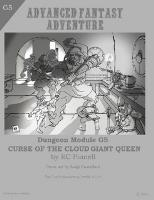 Curse of the Cloud Giant Queen (2nd Printing)