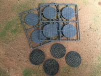 50mm Round Paved Effect Bases