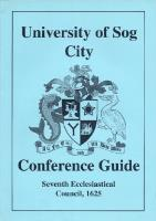 University of Sog City Conference Guide - Seventh Ecclesiastical Council, 1625