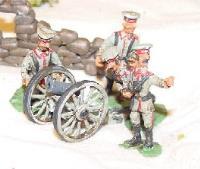 12cm Howitzer w/Garrison Hat Crew