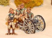 12cm Howitzer w/Pith Helmeted Crew