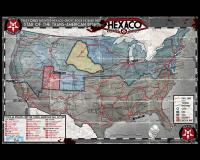 Flip-Map - New Orleans & Hexaco Map of North America