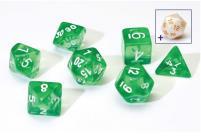 Transparent Green w/White (8)