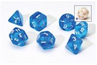 Transparent Blue w/White (8)