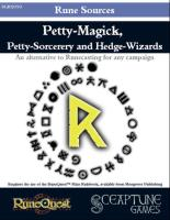 Rune Sources - Petty-Magick, Petty-Sorcery and Hedge Wizards