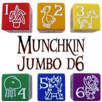 D6 Jumbo Munchkin Dice - Orange (2)