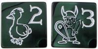 D6 Jumbo Munchkin Dice - Ichor Green (2)