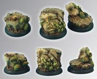 Ancient Ruins - 30mm Round Edge Base #1