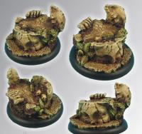 Ancient Ruins - 50mm Round Edge Base #1