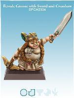 Female Gnome w/Sword & Crossbow