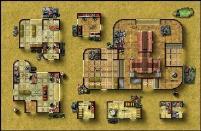 Double-Sided Map - Desert City Invasion, Desert Starport B/Forest Sanctuary