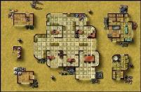 Double-Sided Map - Desert City Invasion, Desert Starport C/Forest Ruins