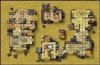 Double-Sided Map - Desert City Invasion, Desert Starport A/Fueling Station