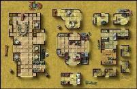 Double-Sided Map - Desert City Invasion, Desert Starport D/Dark Forge