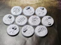 32mm Beveled Bases - Creeping Infection