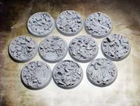 32mm Beveled Bases - Urban Rubble