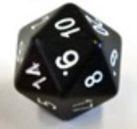 Numerically Balanced d20 - Black