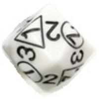 d2/3/4 White w/Black (2)
