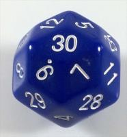 D30 Blue w/White