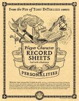Player Character Record Sheets (2015 Gencon Edition)