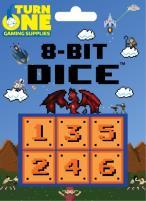 D6 8-Bit Dice - Blocks (6)