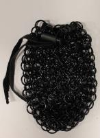 Aluminum Chainmail Dice Bag - Black (Medium)