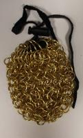 Aluminum Chainmail Dice Bag - Gold (Small)