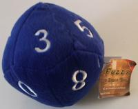 "10 Sided Die Plush 4"" Blue w/White"