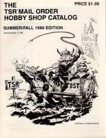 1986 Summer/Fall TSR Mail Order Hobby Shop Catalog