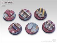 32mm Round Base - Scrap Steel