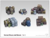 Stacked Boxes and Barrels #2