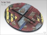 120mm Oval Base - Scrap Steel