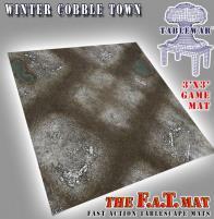 3' x 3' - Winter CobbleTown