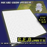 "3' x 3' GEO Mat - 1"" Square Grid in Black"