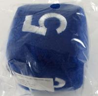 "6 Sided Die Plush 3.5"" Blue w/White, Numbered"