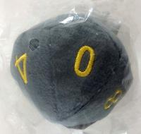 "10 Sided Die Plush 4"" Grey w/Gold"