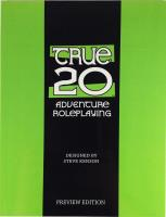True20 Adventure Roleplaying (Preview Edition)
