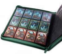 12 Pocket Quadrow Zipfolio XenoSkin - Green