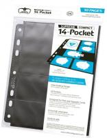 14-Pocket Compact Pages Standard + Mini American - Black (10)