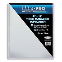 """9""""x11"""" Thick Magazine Toploader (10 Pack)"""