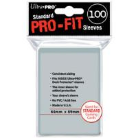 Standard Pro-Fit Sleeves - Clear (100)
