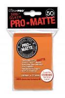 Pro-Matte Non-Glare Card Sleeves - Orange (50)