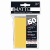 Pro-Matte Non-Glare Card Sleeves - Yellow (50)