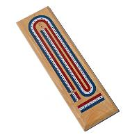 3 Track Cribbage Board (Red, White, and Blue)